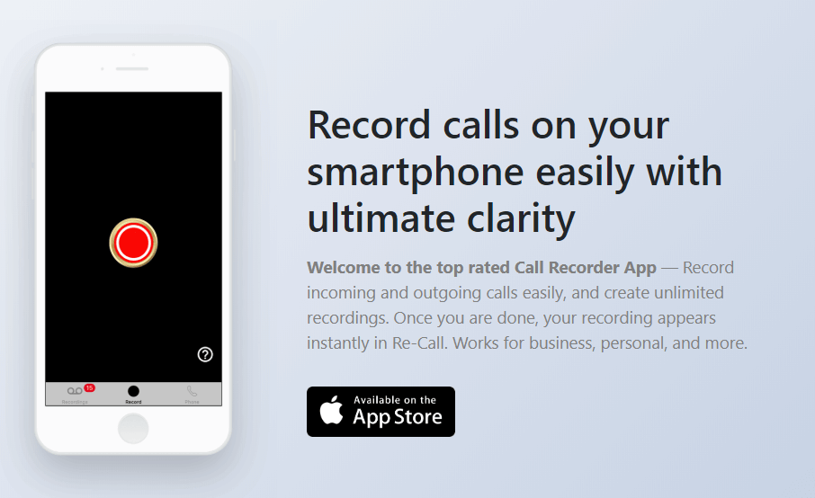 ReCall call recording app solves how to record phone calls on landline