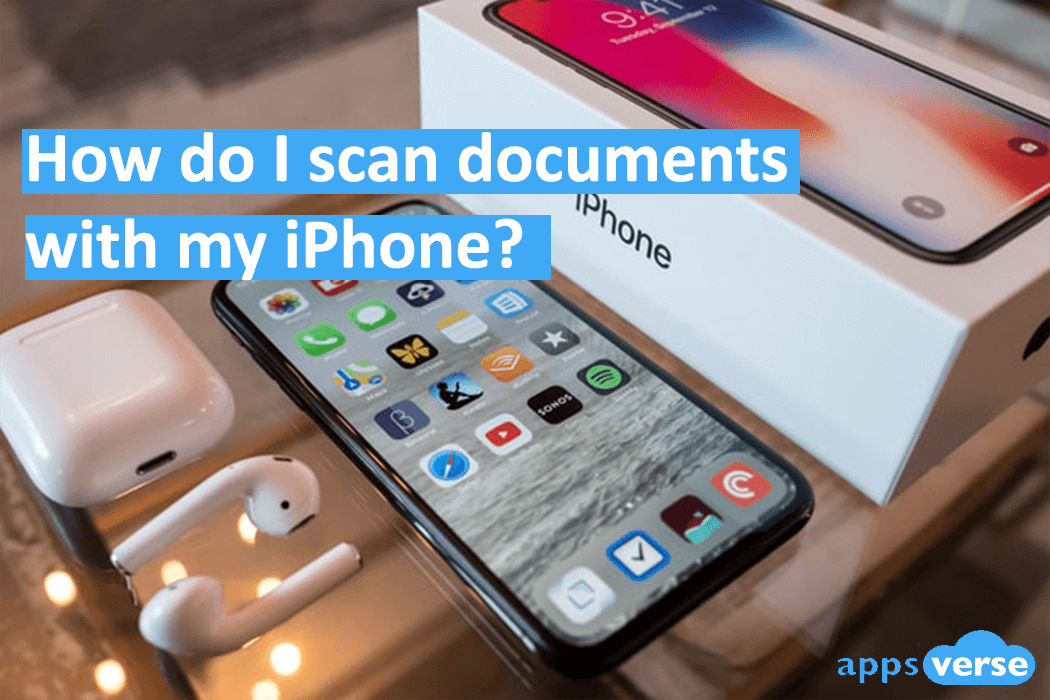 How do I scan documents with my iPhone?